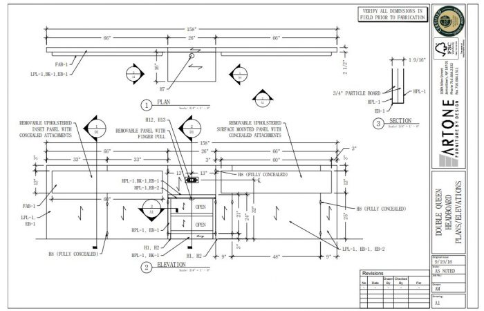 View Shop Drawings Custom Hospitality Furniture Design