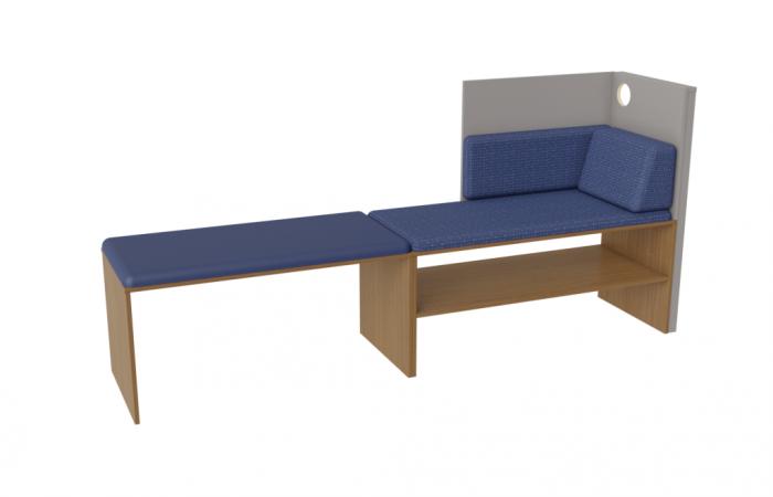 Microtel Moda Bench at 14' Bays